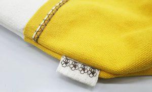 模様縫い(タブ付け)
