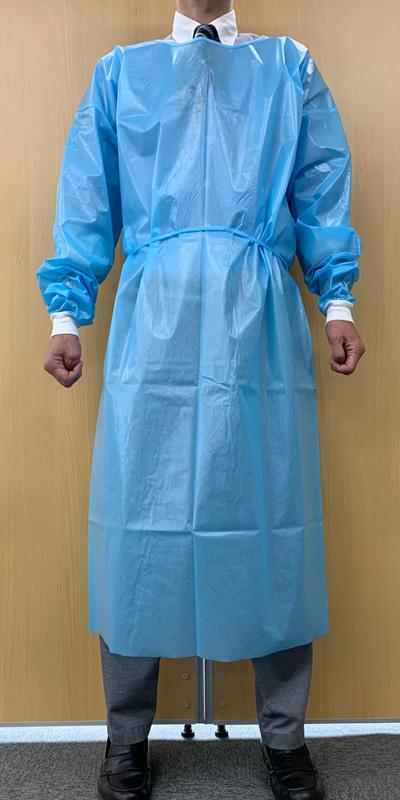 簡易防護服(使い捨てガウンタイプ)正面