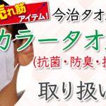 今治タオルを使用した抗菌・防臭・抗ウイルス加工済「今治カラータオルマスク」