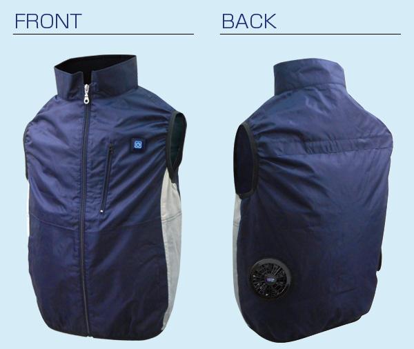 胸スイッチ式空調ベスト(ハーネス対応)フルセット 仕様