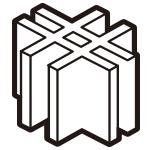 十字型固定パーツ3個組