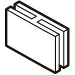 I字型固定パーツ3個組