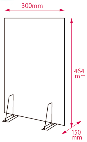 飛沫防止パネルパーテーションセット(ホワイト)